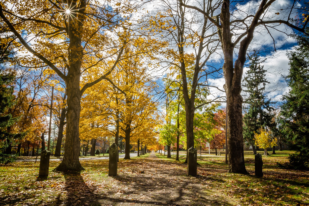 The Middle Path on the Kenyon College campus in Gambier, Ohio. Photographed on November 3, 2013.