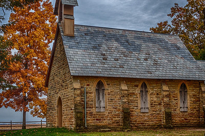 The Christ Church at the Quarry located east of Gambier, Ohio on Quarry Chapel Road. Built in 1862.