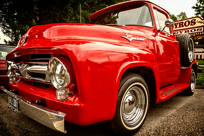 1956 Ford truck photographed during the 13th Cruisin Downtown in Loudonville, Ohio on July 6, 2013.