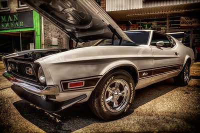 1973 Mustang Mach I from the Cy Young Car Show Festival in Newcomerstown, Ohio. Photographed on June 23, 2013. Post-processed with Adobe Lightroom 4 with Color Efex Pro 4 and Analog Efex Pro.