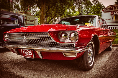1966 Ford Thunderbird photographed during the 13th Cruisin Downtown in Loudonville, Ohio on July 6, 2013.